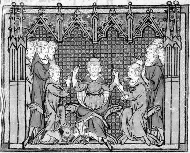Charles Martel divides the power of the Carolingian dynasty between Pippin and Carloman. (Guise / Public Domain)