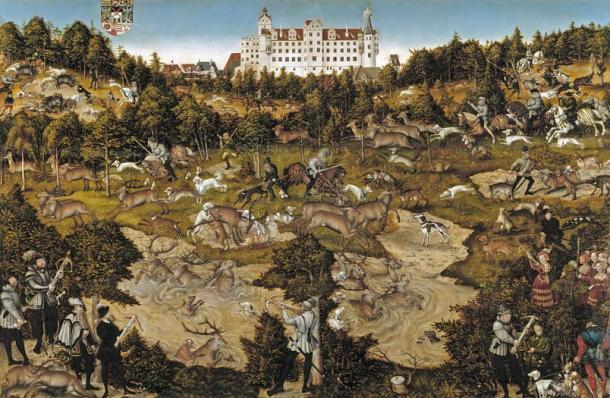 Charles V at the Castle of Torgau, by Lucas Cranach, 1544.