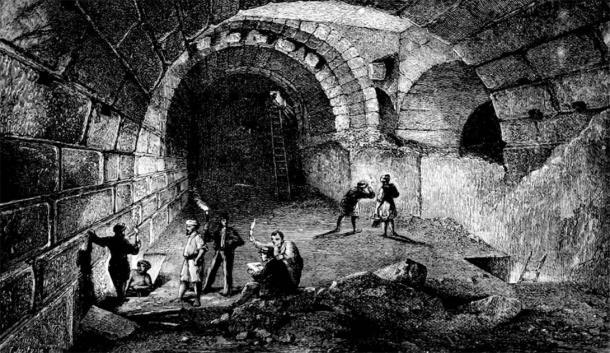 "Charles Wilson's 1871 ""Recovery of Jerusalem"" publication of the Ordnance Survey of Jerusalem. (Public Domain)"
