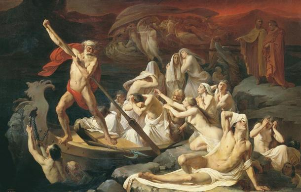 The Charon known as the ferryman taking souls to the river Styx and through to Hades. Artist: Alexander Litovchenko. 1860.