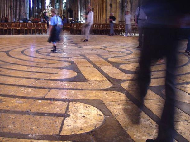Chartres Cathedral labyrinth.