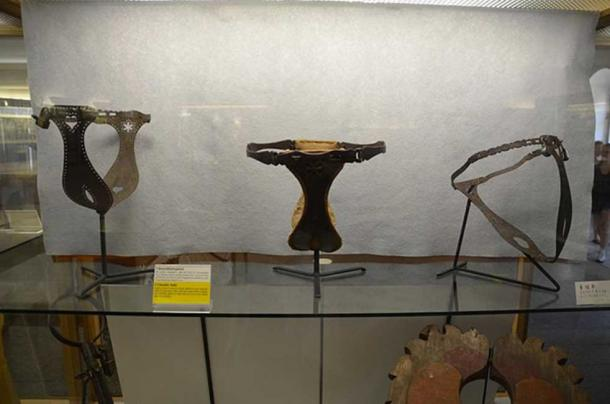 Chasity belts on exhibit at the Criminal Museum Rothenburg ob der Tauber. (Slick-o0bot / CC BY-SA 2.0)