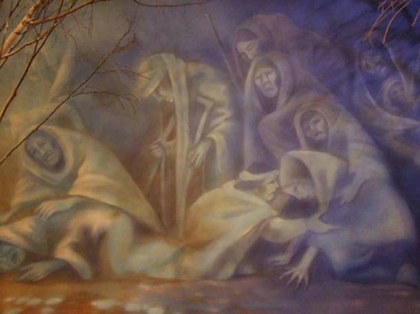 Cherokee museum - trail of tears mural. (nick chapman/CC BY NC 2.0)