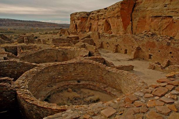 Chetro Ketl, an Ancestral Puebloan great house and archeological site located in Chaco Culture National Historical Park, New Mexico