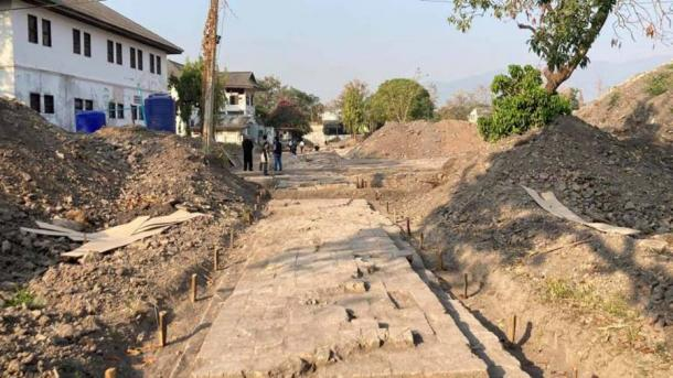 Within an area that was once Chiang Mai's Women's Correctional Center, archaeologists have found multiple archaeological remains and artifacts belonging to an ancient Lan Na Kingdom palace. (Thai PBS)