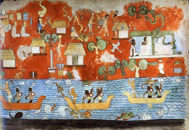 A mural from the Chichen Itza Temple of the Warriors.