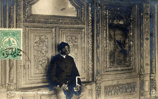 Chief Eunuch of Ottoman Sultan Abdul Hamid II at the Imperial Palace, 1912.