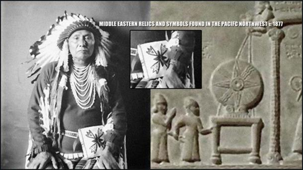 """In 'Red Earth, White Lies' Vine Deloria Jr. writes about Chief Joseph, a Nez Perce leader, who in 1877 was found to be in possession of Middle Eastern artifacts and symbols he claimed to have inherited from his ancestors, artifacts whose provenance cannot be explained."""