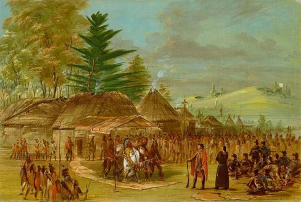 'Chief of the Taensa Indians Receiving La Salle. March 20, 1682.' (Public Domain)