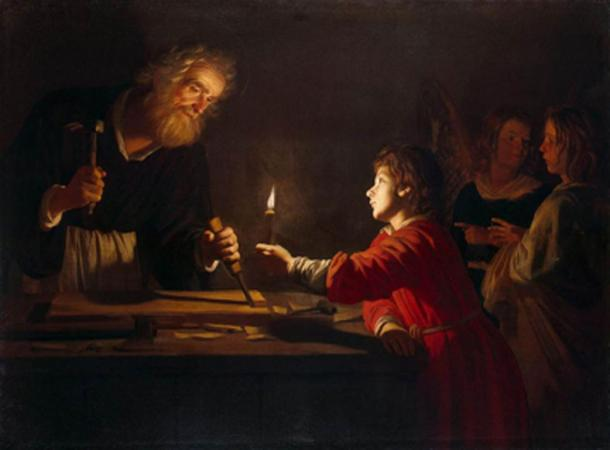 Childhood of Christ by Gerard van Honthorst. (JarektUploadBot / Public Domain)
