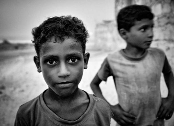 Children of Socotra Island, Yemen