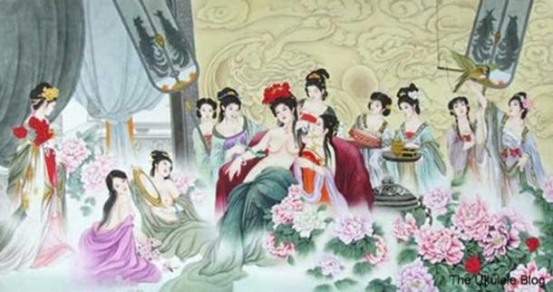 Chinese concubines.