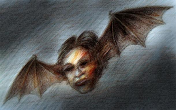 Artist's illustration of a Chonchon.