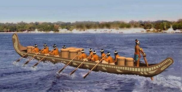 Chontal freight canoe.