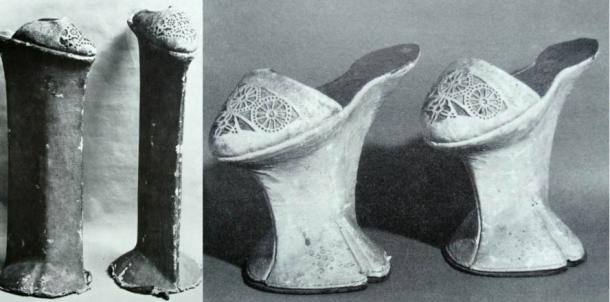 Chopine shoes were worn to reflect the status of the wearer