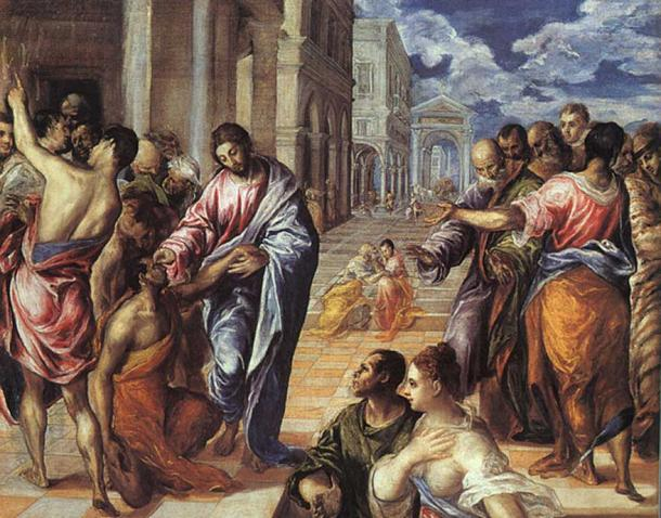 'Christ Healing the Blind in Jericho', El Greco.