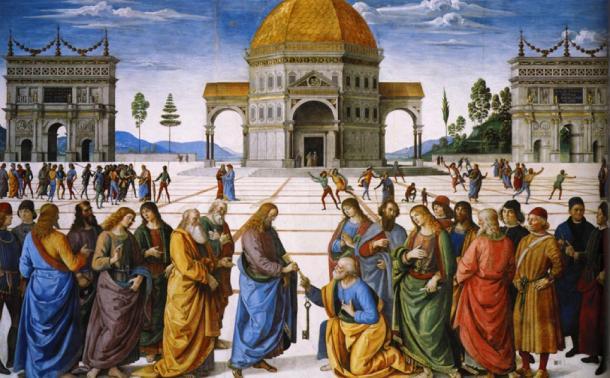 'Christ Handing the Keys to St. Peter' by Pietro Perugino (1481-82). (Public Domain)