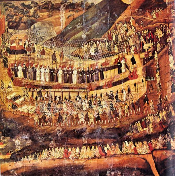 The Christian martyrs of Nagasaki. 17th-century Japanese painting.