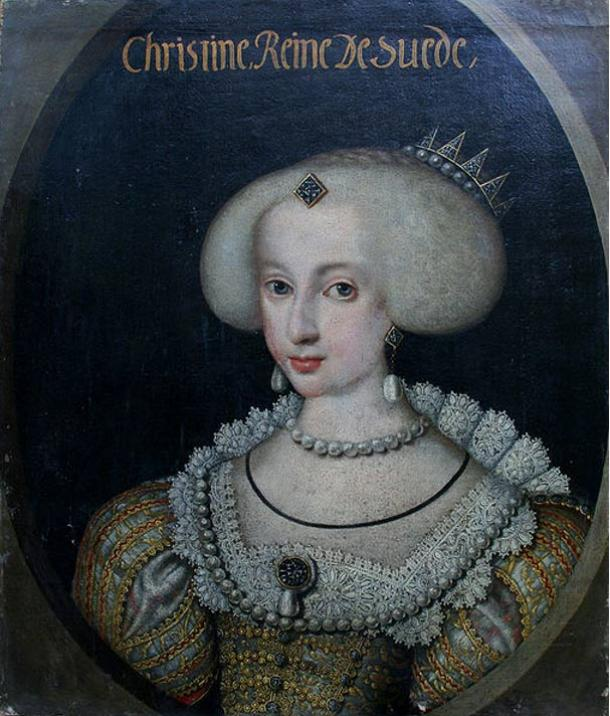 The 16-year-old Christina as queen.