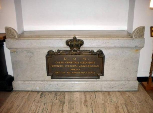 Christina's sarcophagus in the extensive papal crypt at the Vatican.