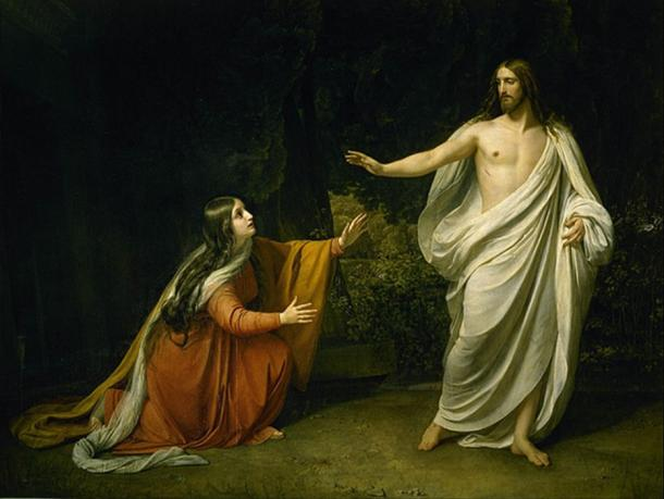 Christ's Appearance to Mary Magdalene after the Resurrection by Alexander Andreyevich Ivanov (1835) (Public Domain)