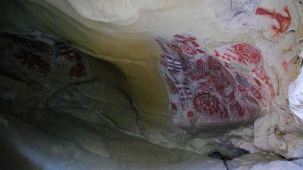 Chumash Painted Cave art.