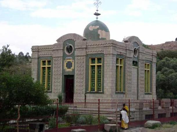 The Church of Our Lady Mary of Zion in Axum, Ethiopia. Some people argue that this church houses the original Ark of the Covenant.