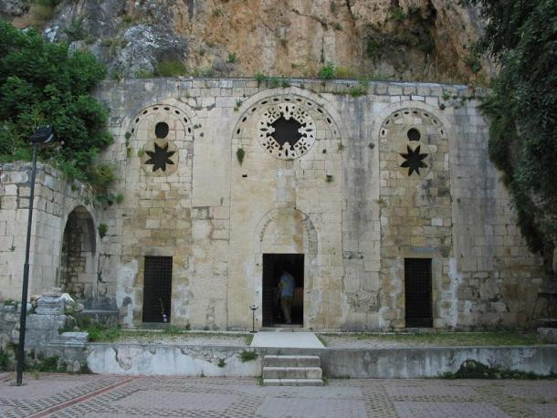 The Church of St Peter near Antakya, Turkey, said to be the spot where Saint Peter first preached the Gospel in Roman Antioch.