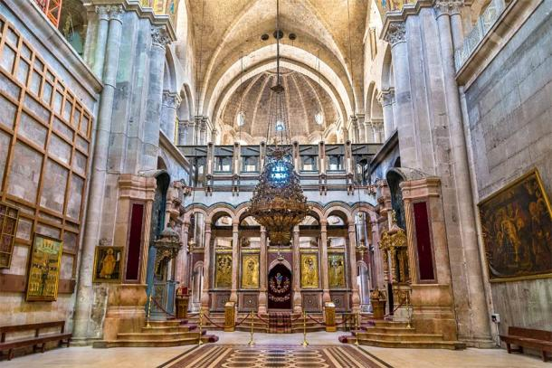 "Church of the Holy Sepulchre in Jerusalem, Israel is considered the place where Jesus died and the ""cave"" location of his Resurrection. (Leonid Andronov / Adobe Stock)"