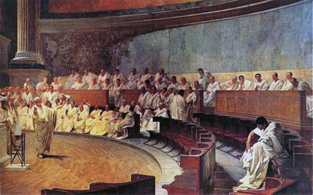 'Cicero Denounces Catiline' (1889) by Cesare Maccari