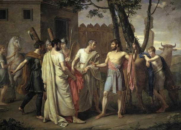 Cincinnatus leaves the plow for the Roman dictatorship – Juan Antonio Ribera, c. 1806