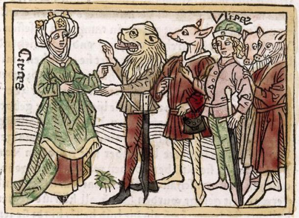 """""""Circe"""", a catalogue of famous women, from a 1474 edition."""