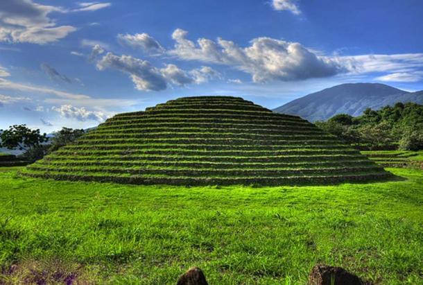 Circular stepped pyramid at Guachimontones, known as Circle 2.