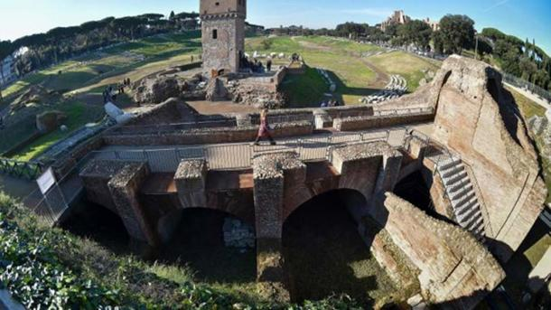 The Circus Maximus archaeological site after its restoration and opening to the public.
