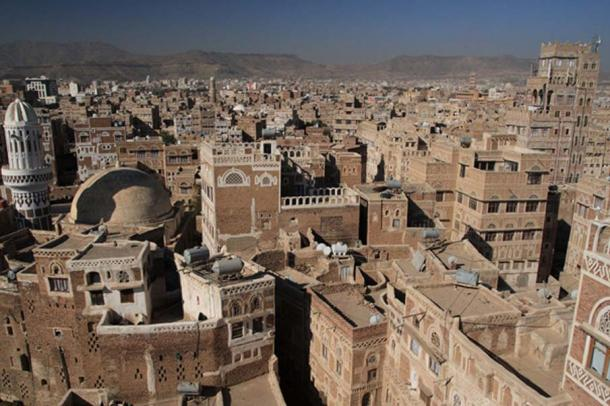 View of the City of Sana'a rooftops