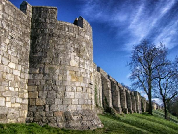 City of York Wall was originally built by the Romans, although little from that era remains.