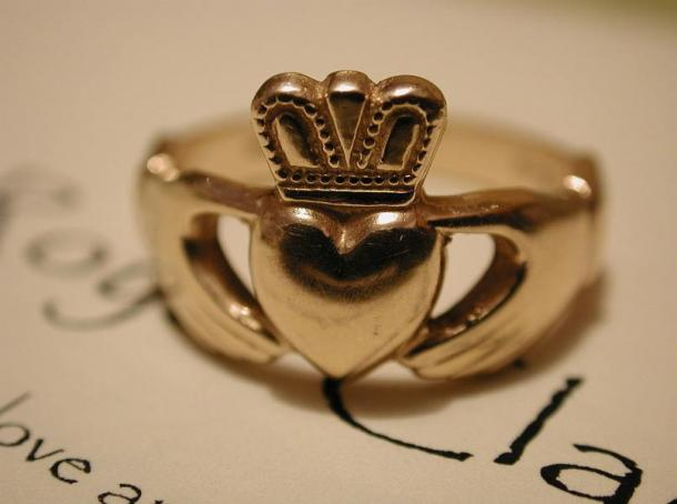 Awesome Claddagh Ring Was Used During Wedding Ceremonies.