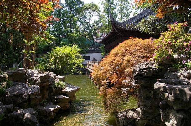 Classical Chinese garden, Shanghai.