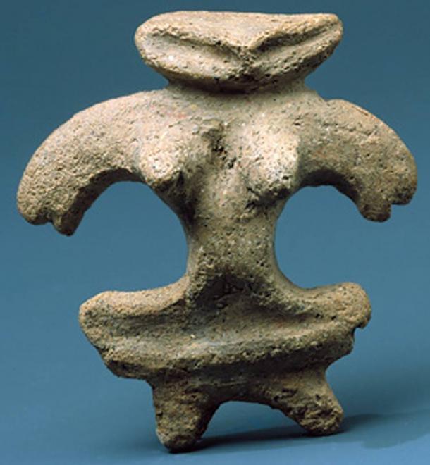 Desconocido, figurilla de barro, 1000-300 aC.  Museo Metropolitano de Arte, Nueva York.