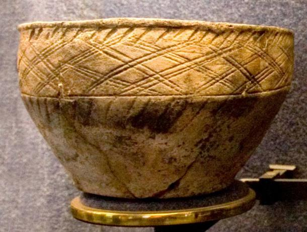 Clay pot found during timber grave excavations.