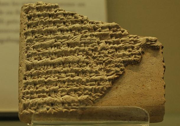 Clay tablet relating the birth of Sargon, first ruler of the Akkadian Empire, and his quarrel with king Ur-Zababa of Kish. (Jastrow / Public Domain)