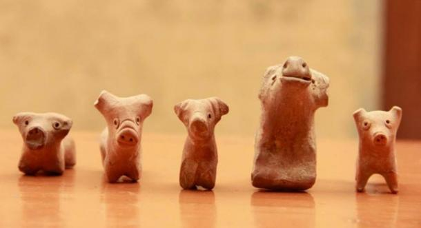 Clay toys found in Rakhigarhi included animals and mythical figures.