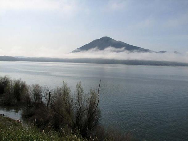 Clear Lake and Mount Konocti, California