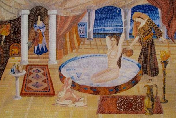 'Cleopatra's Milk Bath', contemporary mosaic