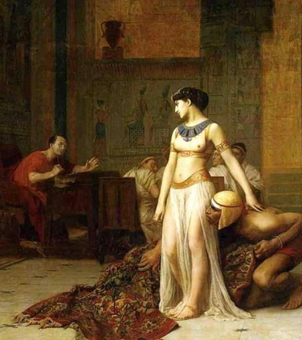 Cleopatra and Caesar by Jean-Leon-Gerome, 1866.
