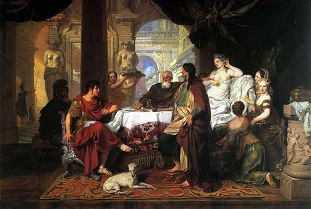 Cleopatra's Banquet. By Gerard de Lairesse.