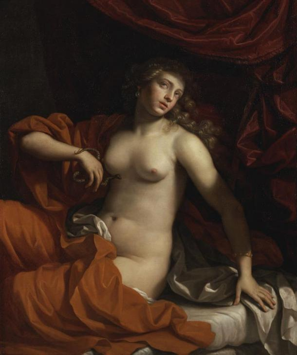 Cleopatra's death as depicted by Benedetto Gennari in 1675