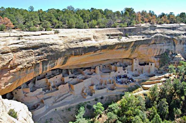 Cliff Palace, at Mesa Verde. Montezuma County, Colorado, USA.