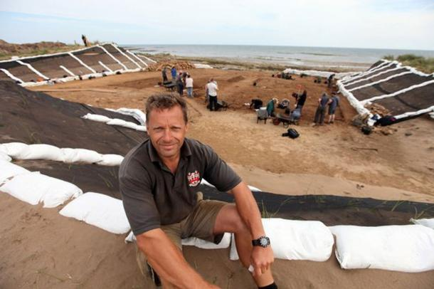 Clive Waddington, project director of Archaeological Research Services Ltd at the prehistoric archaeological dig at Low Hauxley near Amble, Northumberland