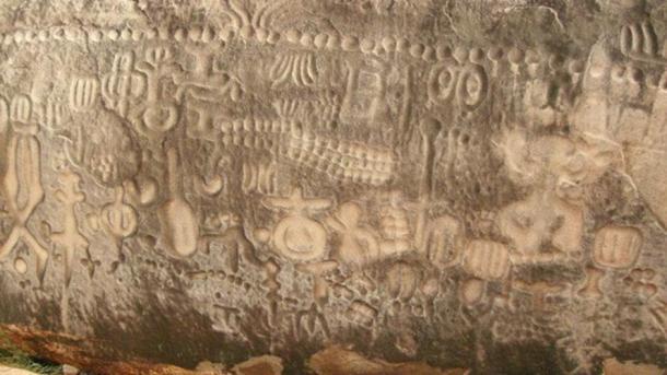 Closeup of the Inga Stone.